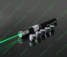 OXLasers 5mw 5 patterns 5 in 1 green laser pointer pen with 5 star caps (6 in1) laser kaleidoscope FREE SHIPPING(China)