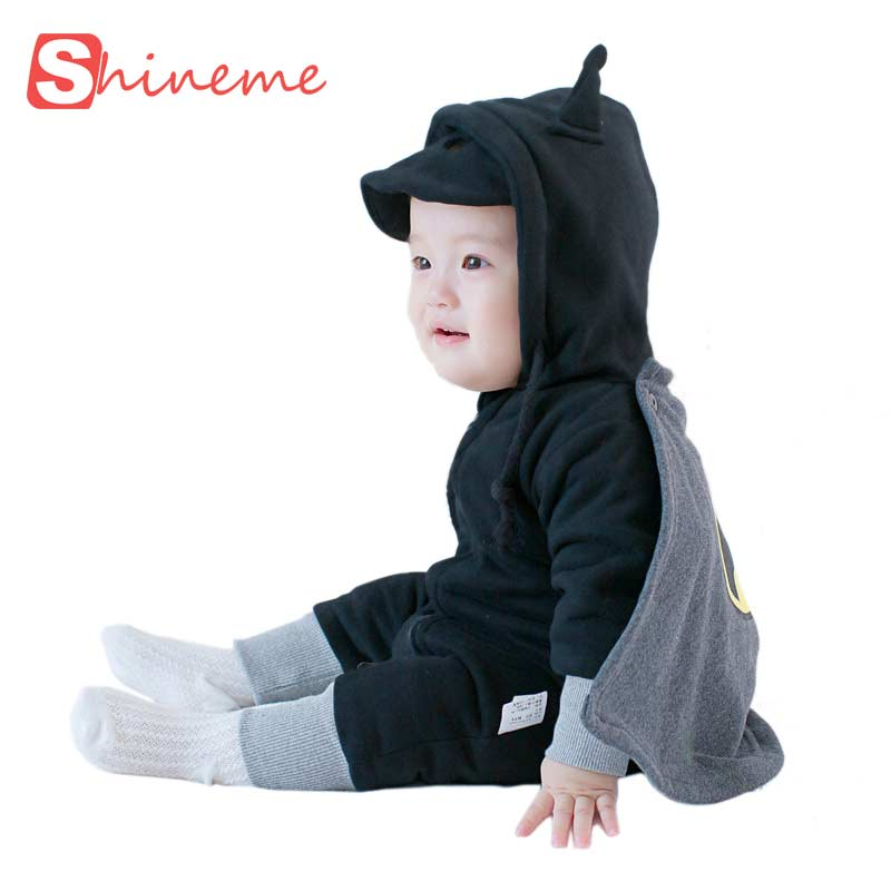 Cotton baby coverall boy winter jumpsuit girls rompers set long sleeve infant clothing brand funny superhero batman clothes<br><br>Aliexpress