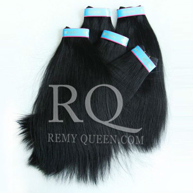 REMY Queen Hair Products Brazilian Straight Hair Weft Mixed3pcs  lot 1# Jet Black Weaving Hair 8  to 28  Factory Price Stock<br><br>Aliexpress