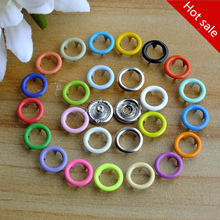 Retail 50set/lot Multicolour 9.5mm hollow prong snap buttons baby romper buckle snap