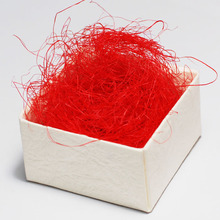 100g Free Shipping Wholesale Natural Red  Raffia Jute Gift/Candy Packing Material Box Filler