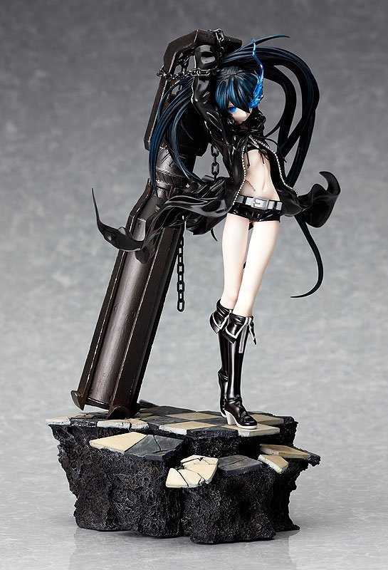 High Quality 29cm Japanese Sexy Anime Figure Black Rock Shooter Dark Miku Teenager Ver With Cannon