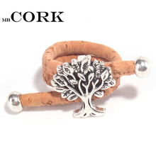 MB Cork Portuguese cork life of tree cork women Ring soft original, adjustable handmade R-009(Portugal)