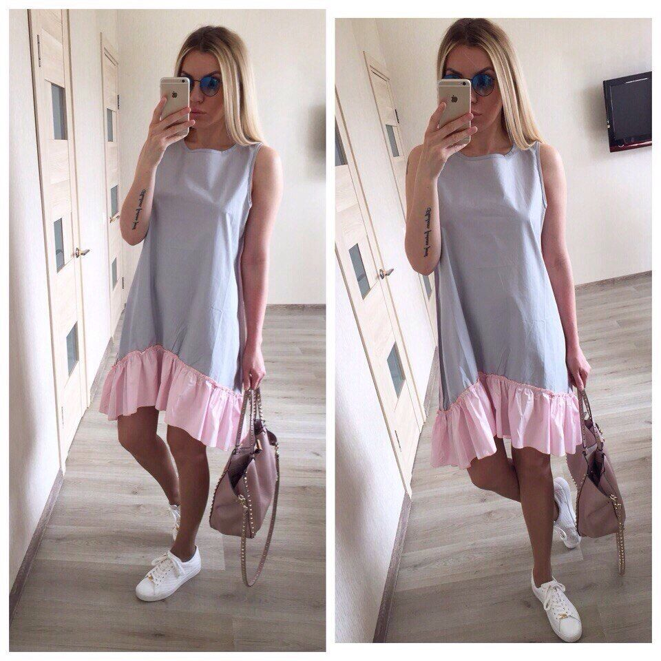 Summer Dresses 2017 Women Casual Loose Patchwork Sleeveless Ruffles O-Neck Mini Beach Dress Plus Size