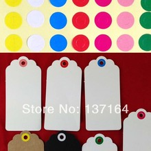 Wholesale 7 Colors Sticker Label Circle For decoration Hang Tag Garment Tag High Quality Yellow/Green/White/Red/Blue/Pink/Rose