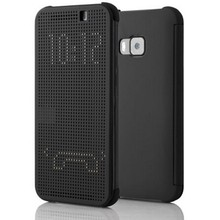 Hot Product Phone Case Accessory Black Dot View Flip Leather Smart Case Cover for HTC One M9