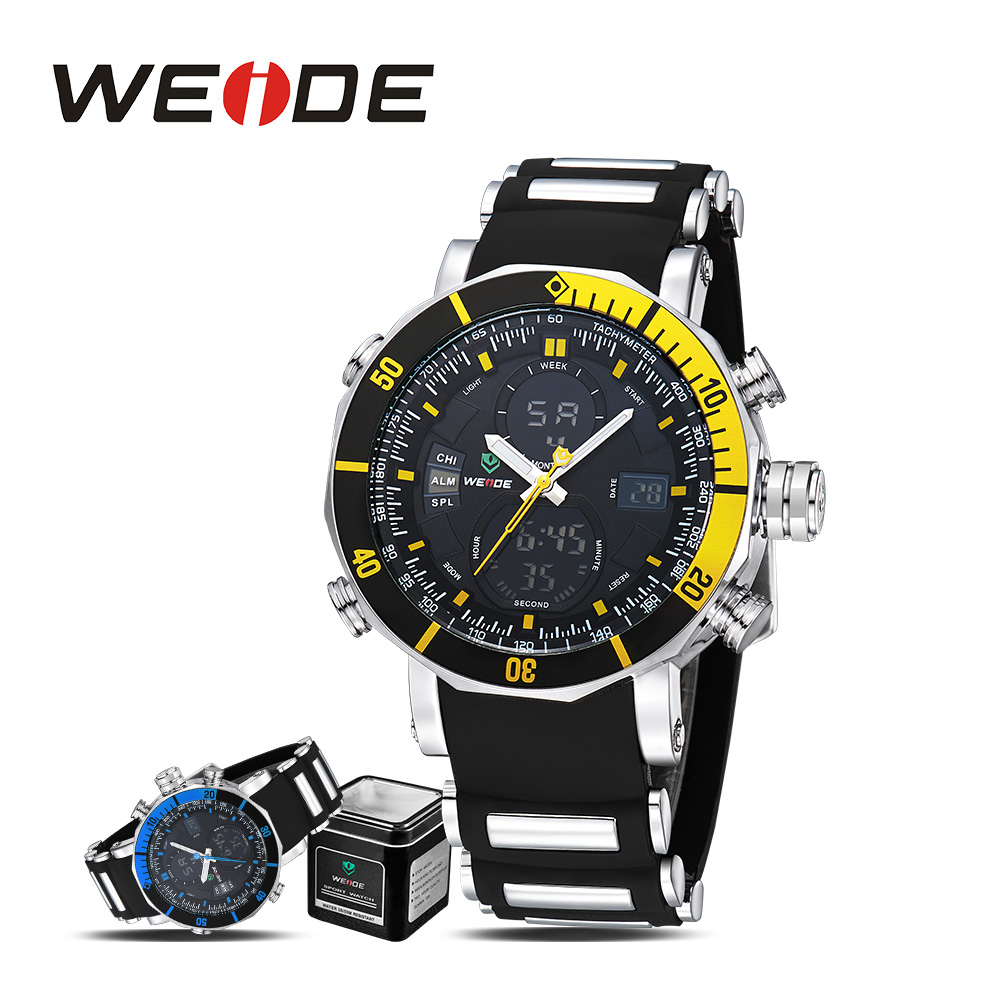 WEIDE role luxury watch men quartz sports wrist watches casual genuine watch sport in digital silicon  watches military analog<br>