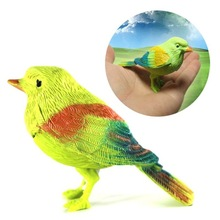 Hot Selling Natural Bird Singing Voice Sound Control Activate Toy Talking Parrot Pet Playing Toy
