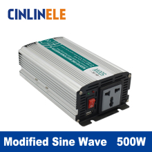 Modified Sine Wave Inverter 500W CLM500A DC 12V 24V 48V to AC 110V 220V  500W Surge Power 1000W Power Inverter 12V 110V