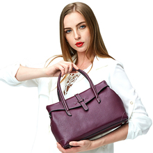 2017 Luxury Women Genuine Leather Brands Boston Tote Bags Messenger Shoulder Bag Ladies Hand Bags Vintage High Quality Handbags