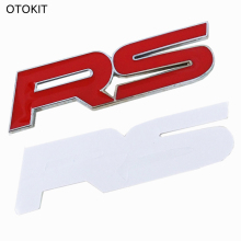 OTOKIT Brand 1Set Metal RS Emblem Badge Trunk Sticker for Ford Focus Chevrolet Cruze Kia Sportage Skoda Octavia Mazda VW Hyundai
