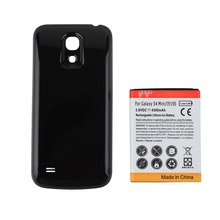 High Capacity 4300mAh Replacement Extended Phone Battery for Samsung Galaxy S4 mini i9190 + Black Back Cover for Galaxy SIV mini(China)