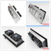 12V 240W Semiconductor electronic Parr Peltier refrigeration cold air conditioning Space water cooling Aluminum radiator fan(China)