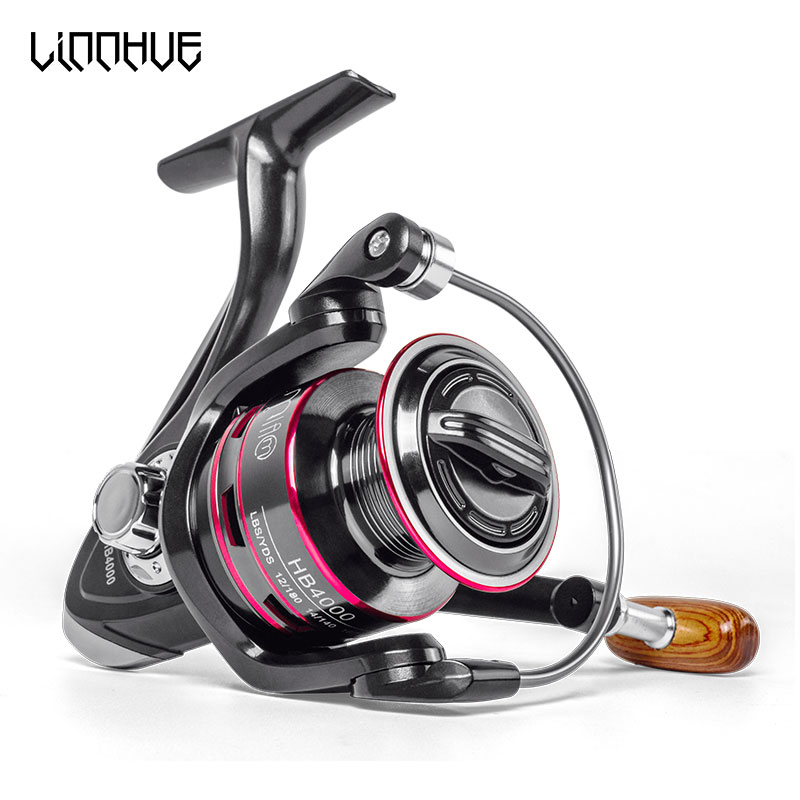 LINNHUE Fishing-Reel Spool Handle-Line Saltwater Stainless-Steel 8KG Max-Drag All-Metal title=