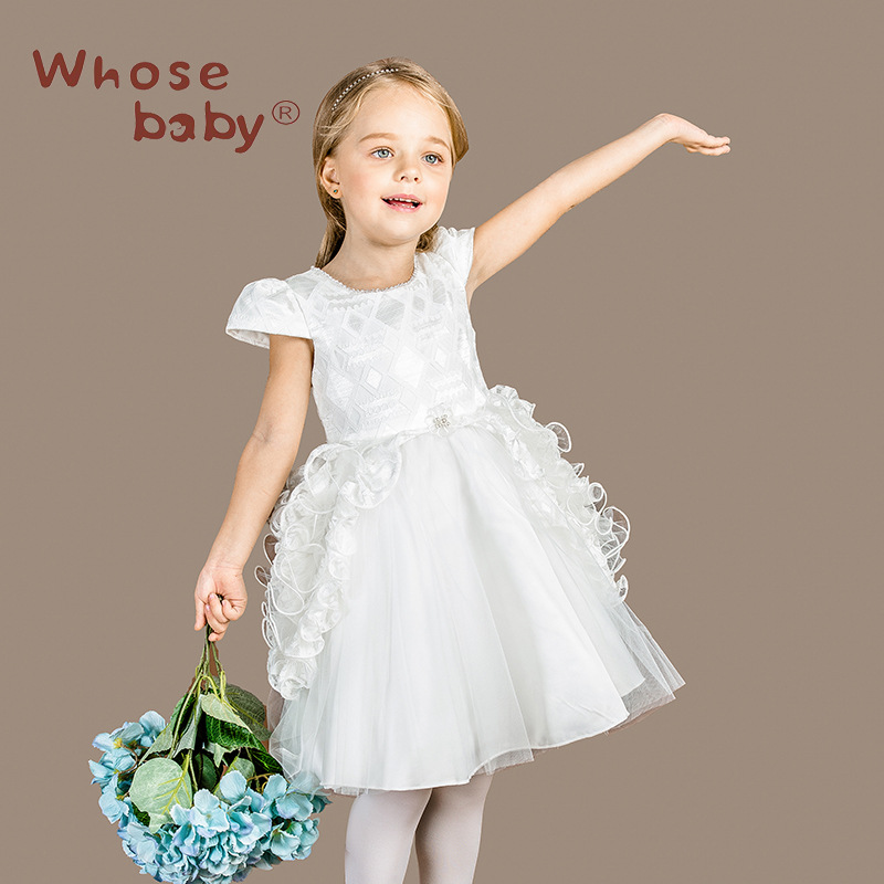 whosebaby White First Communion Dresses For Girls 2016 Lace Infant Toddler Pageant Flower Girl Dresses for Weddings and Party<br><br>Aliexpress