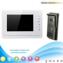 white digital screen intercom video doorphone speakerphone intercom system  monitor outdoor with waterproof durable metal camera