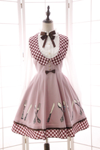 Princess sweet lolita Japanese dress sweet alice beautiful and Elegant forks and knife lolita dress QQ029(China)