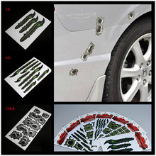 Car Stickers Bullet Holes Scars Scratches of Beasts High Fidelity Waterproof Fine Printing Free Shipping