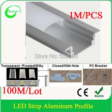 1M Recessed aluminum profiles for Ceiling/Wall Light 100M/Lot Length can be customized