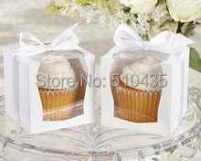 12pc single cupcake box   9*9*9cm   with insert &ribbon  (Good quality