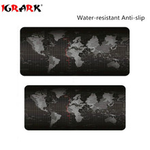 iGrArK Super large 900x400mm/800x300/700x300/600x300 World Map rubber mouse pad computer game tablet mouse pad with edge locking