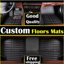 NEW For Toyota Corolla 2006-2013  car Floor Mats interior model cover leather pad waterproof rugs car-styling products accessory