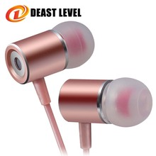 Deast Level headphones wired microphone Earphones fone de ouvido music earphone auriculares phone Dj headset bass Mp3 computer(China)