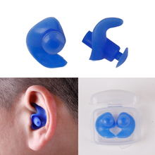 High Quality Soft Swim Waterproof Silicone Ear Plug Surf Swimming Pool Accessories Waterproof Adult Diving Soft(China)