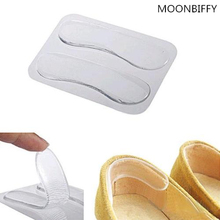 Comfortable Antislip Silicone Gel Heel Cushion Shoe Pads Foot Care Protector Sticker Pads Transparent