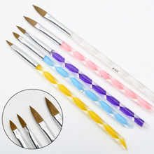 New 5 Pieces Five Size High Quality Professional Acrylic Liquid For Nail Art Pen Brush UV Gel Nail Acrylic Powder