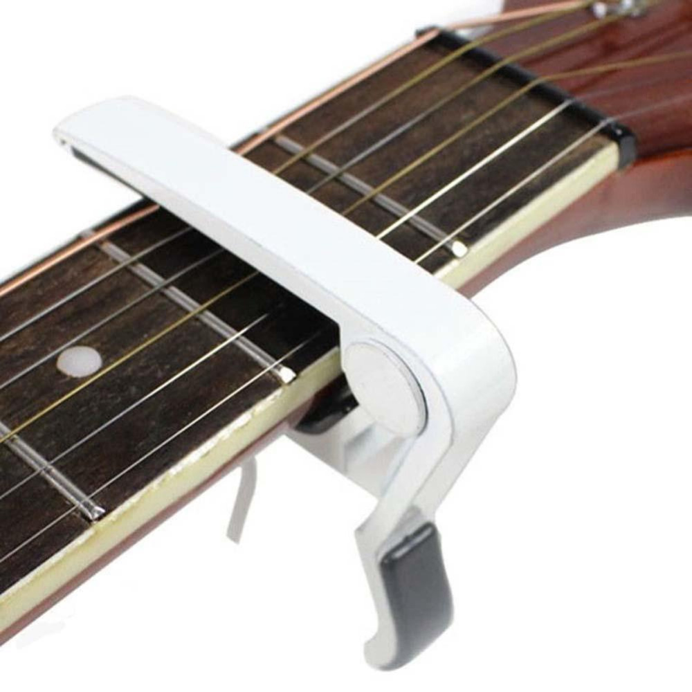 Free shipping Aluminium Spring Trigger Guitar Capo for Electric &amp; Acoustic Guitars White<br><br>Aliexpress