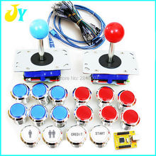 JAMMA MAME FOR PC/ PS3 USB Controller  to jamma LED illuminated 32mm push button with microswitch 2 kind of joystick arcade kit