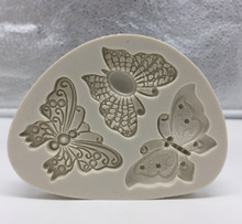 Butterfly Shaped Fondant Cake Mold Silicone Mold Soap Mould Bakeware Baking Cooking Tools Sugar Cookie Jelly Pudding Decor H058(China)