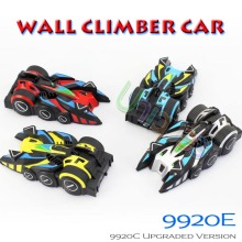 Lucky Boy 9920E Wall Climber RC Remote Control Car Ceiling Climbing Car Anti Zero Gravity RC Mini Electric Radio Toys Car 9920C