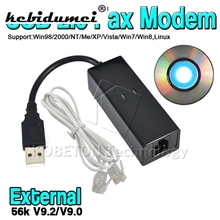High Speed Dial Up VoiceExternal USB 2.0 56kbs USB Fax Modem with Telephone RJ11 Cablefor Windows XP/ Win 7/8/Linux