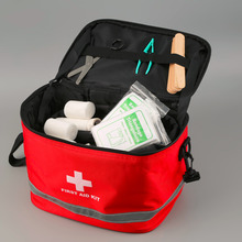 122pcs/pack 28*19*20cm Safe Outdoor Wilderness Survival Travel First Aid Kit Camping Hiking Medical Emergency Treatment Pack(China)
