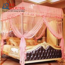 Mosquito net three door stainless steel bracket floor court square top 1.2/1.5/1.8/2m meters double bed FREE SHIPPING