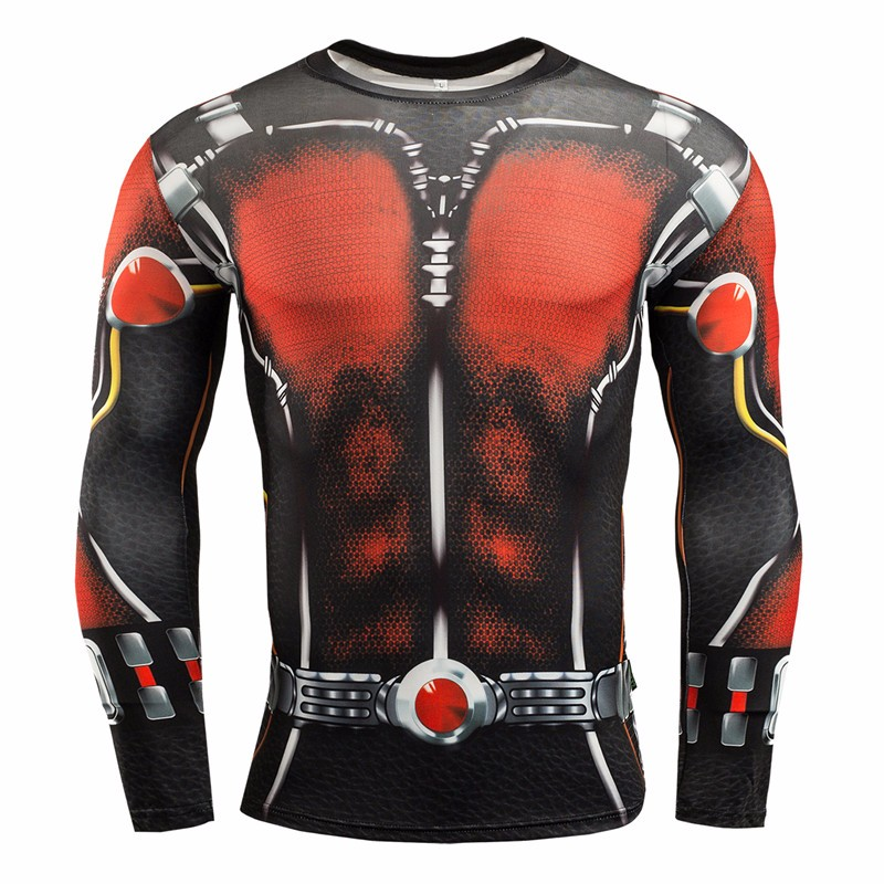 Marvel Gyms Clothing Fitness Compression Shirt Men Batman t-shirt men Long Sleeve 3D t shirt men Crossfit Tops tee shirt homme 18