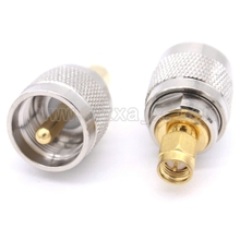 RF coaxial coax adapter UHF to SMA connector PL259 SO239 UHF male to SMA male Plug fast ship