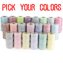 Free DHL 100 Spools (110yard/spool) Pick Colors Cheap 12ply Cotton Bakers Twine Wholesale,Gift Wrap Packaging Rope String Cords