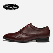 35~50 men Brogue shoes full grain leather lace-up pointed toe men oxfords #1611(China)