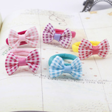 hair rope string Bow  children hair bands boutique baby Headwear adult tire hair  rope elastic ring 5pcs/lot
