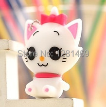 free shipping 2013 New Hot sales cartoon mini cat baby model USB 2.0 Flash Memory Stick Drive U Disk Festival Thumb/Car/Pen Gift(China)