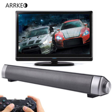 ARRKEO Soundbar USB MP3 Player 3D Surround Sound Bluetooth Speaker Wireless Subwoofer Bass Sound Bar For TV Phone PC Laptop