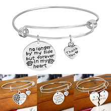 LNRRABC 1PC Hot Lettering Adjustable Silvery Thank You Hollow Tree Multi Patterns Women Lady Girl Alloy Bangles