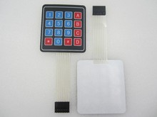 10pcs/lot 4 x 4 Matrix Keypad Membrane Switch 8 pins connector SCM Outside enlarge Keypad For Arduino new