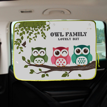 New Arrival Car Cartoon Shade Curtains Sucker Sunscreen Reflective Car Side Window Shade Curtains For Protect Children D398(China)