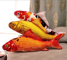 2017 APR New Taisho Showa Red White Gibel Carp Golden Koi Fish Stuffed Plush Toy 16cm 30cm 60cm 90cm 1pcs 3D Birthday Gift