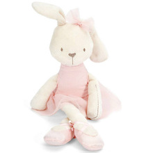 Cute Stuffed Plush Rabbit Toy For Baby Girls Kids Soft Kawaii Toy Children Big Bedding Pillow Baby Girls Bow Dress Pets Toys