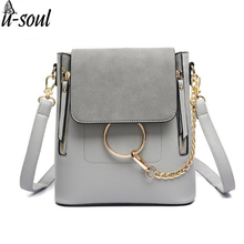 women backpack fashion leather backpacks double zipper shoulder bag good quality student female girls bags ladies SC0458
